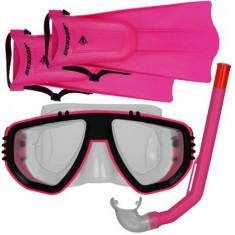 Set Snorkeling Dunlop Pentru Copii, Roz