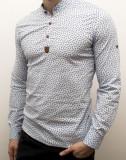 Camasa barbat - camasa bleu ancore - camasa slim fit - camasa elastica cod 137, L, M, S, XL, Maneca lunga, Din imagine