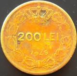 Moneda 200 Lei - ROMANIA, anul 1945   *cod 791