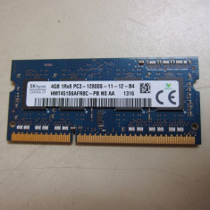 Ram laptop Hynix 4GB PC3-12800 DDR3 1600MHz HMT451S6AFR8C-PB N0 1.5V - Memorie RAM laptop
