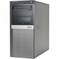 Calculator Dell Optiplex 960 Tower, Intel Core2Quad Q9650 3.0 GHz, 4 GB DDR2, 320 GB HDD SATA, DVDRW. Card Reader, ATI Radeon 4670 - Sisteme desktop fara monitor