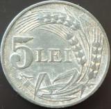 Moneda 5 Lei - ROMANIA, anul 1942  *cod 2626 --- Zinc!