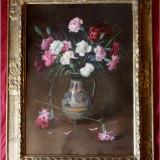 Tablou de Cornel Ratiu (1882-1939) - Vas cu garoafe, Flori, Ulei, Altul