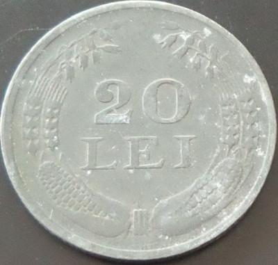 Moneda 20 Lei - ROMANIA, anul 1942 *cod 3255 --- zinc foto