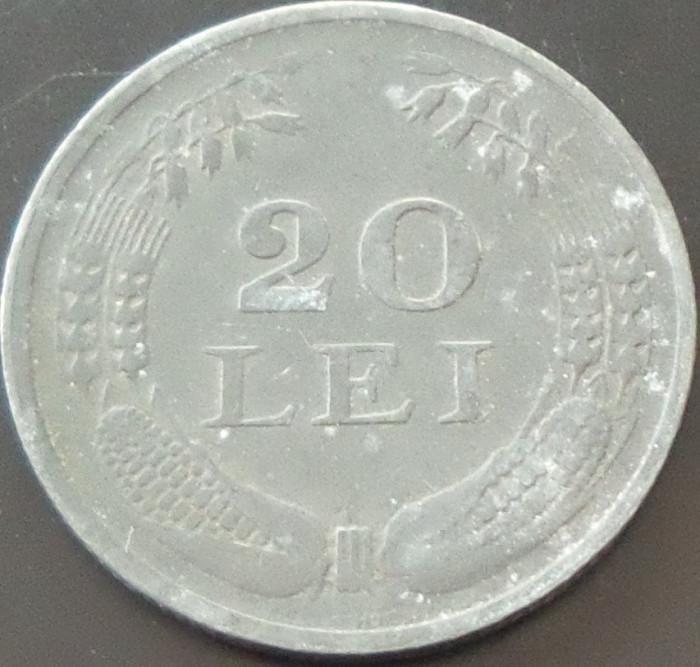 Moneda 20 Lei - ROMANIA, anul 1942 *cod 3255 --- zinc