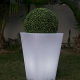 Lobby - Vaza luminoasa alba patrata 70 cm