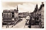 Cluj podul vechi peste Somes,Kolozsvar Szamoshid,ilustrata animata necirculata, Fotografie