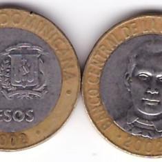 Republica Dominicana 2002 - 5 pesos, bimetal