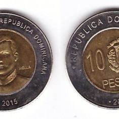 Republica Dominicana 2015 - 10 pesos, bimetal, aUNC