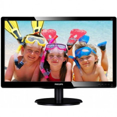 Monitor LED Philips 203V5LSB26/10, 19.5 inch, 1600x900, 5 ms, D-Sub, Negru