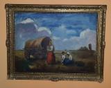 Tablou de Colectie Scoala Baimareana  Semnat Ivanyi Grunwald Bela