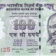 Bancnota India 100 Rupii 2017 - P105j UNC ( cu simbol nou pentru rupie ) - bancnota asia