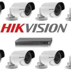 Kit NVR 8 Canale PoE 8 Camere Exterior Ip 3 Megapixeli Hikvision