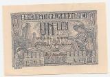 ROMANIA 1 LEU 1915 UNC SERIE 3 CIFRE
