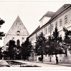 Cluj colegiul si biserica reformata, Kolozsvar Reformatus kollegium es templom - Carte Postala Transilvania dupa 1918, Necirculata, Printata, Cluj Napoca