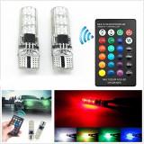 Set 2 Led-uri Pozitie, RGB Multicolor cu telecomanda