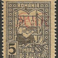 VARIETATE--TESATOAREA--ROMANIA SUPRATIPAR DE OCUPATIE GERMANA MNH - Timbre Romania, Nestampilat