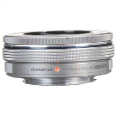 Olympus M.ZUIKO DIGITAL ED 14 - 42mm 1:3.5-5.6 EZ argintiu - Obiectiv mirrorless