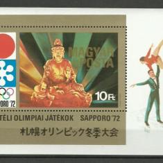 Ungaria 1971 - JO Sapporo, colita neuzata