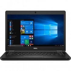 Laptop Dell Latitude 5480, 14 Inch Full HD, Intel Core I7-7600U, 8 GB DDR4, 256 GB SSD, Intel HD 620, Windows 10 Pro, Negru