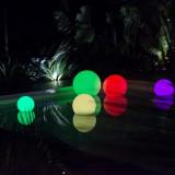 Sfera led luminoasa multicolora autonoma 50 cm
