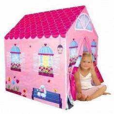 Cort de joaca pentru copii, casuta roz