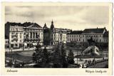 Cluj centru,Kolozsvar,Matyas kiraly-ter,ilustrata animata necirculata, Printata