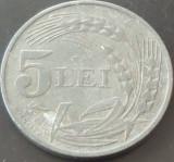 Moneda 5 Lei - ROMANIA, anul 1942  *cod 2924 --- Zinc!