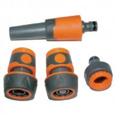 Set pistol pentru stropit multifunctional cu 3 accesorii ABS, TopGarden Premium 380988 - Sistem de irigat