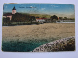 Carte postala circulata - raul Tisa la Bocicoul Mare (jud. Maramures) anul 1918, Printata, Bocicoiu Mare