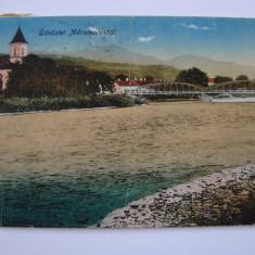 Carte postala circulata - raul Tisa la Bocicoul Mare (jud. Maramures) anul 1918
