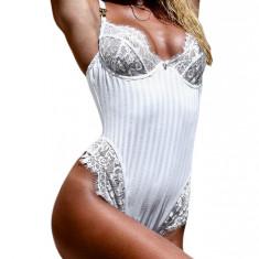 N596-2 Body sexy accesorizat cu dantela - Body dama, Marime: M, M/L