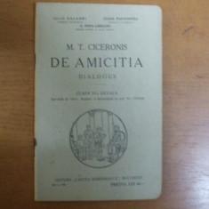 Cicero Despre prietenie De amicitia Bucuresti 1930 Papacostea Popa - Lisseanu - Carte veche