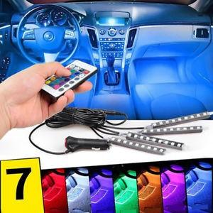 Kit Complet interior LED 4 x Benzi 12 SMD RGB cu telecomanda - 22cm AL-080817-21 foto