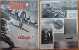 Revista Aviatiei Germane Luftwaffe , Der Adler , Nr. 13 , 1941 ,In limba germana