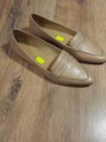 LICHIDARE STOC! Pantofi-balerini dama noi piele naturala fina foarte comozi 40, Bej