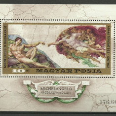 Ungaria 1975 - Michelangelo, colita neuzata