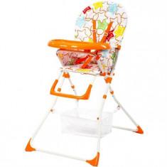 Scaun De Masa Pentru Copii Niami Cadru Alb Mamakids Portocaliu Cu Stelute - Masuta/scaun copii