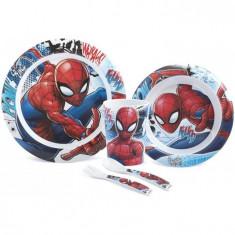 Set Pentru Masa Melamina 5 Piese Spider Man Lulabi