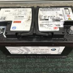 Baterie originala BMW 80Ah EN 800A Start/Stop AGM an 2016 - Baterie auto Banner, 60 - 80