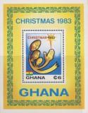 Ghana 1983 - Craciun, colita neuzata