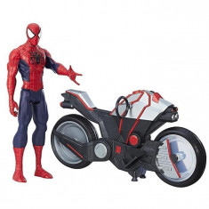 Jucarie Hasbro Spider-Man Titan Hero Series Spider Man With Spider Cycle - Vehicul