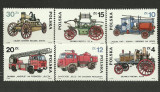 Polonia 1985 - pompieri, serie neuzata
