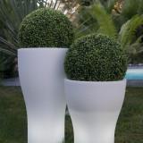 Flory - Vaza luminoasa alba 60 cm