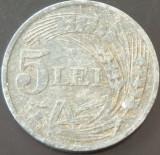 Moneda 5 Lei - ROMANIA, anul 1942  *cod 2851 --- Zinc!