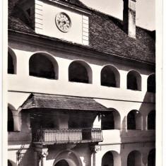 Cluj interior colegiul reformat, Kolozsvar Reformatus kollegium udvara - Carte Postala Transilvania dupa 1918, Circulata, Fotografie, Cluj Napoca