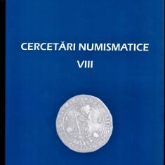 4. Carte Cercetari numismatice vol VIII VEZI CONTINUT in scanare