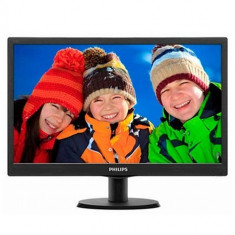 Monitor LED Philips 193V5LSB2/10, 18.5 inch, 1366x768, 5 ms, D-Sub, Negru