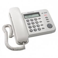 Telefon analogic cu fir alb negru Panasonic cu caller ID - Telefon fix