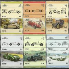 Nevis 1986 - automobile-2, serie neuzata - Timbre straine